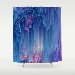 Fairy Glitches - Abstract Pixel Art Shower Curtain