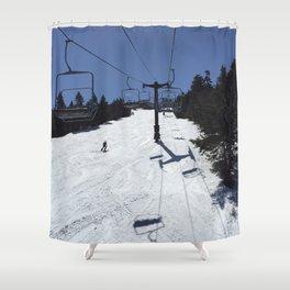 Chairlift Killington Shower Curtain