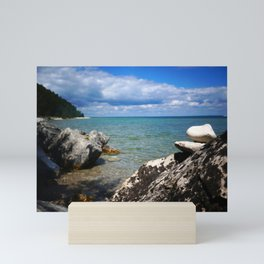 Rocks Lakeside Paradise Mini Art Print