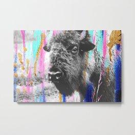 Buffalo Abstract 2 - Mixed media Photography Metal Print