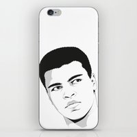 ali gulec iPhone & iPod Skins featuring Ali II by Renan Lacerda