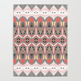 Pacific Northwest Inspired Elegant NeoTribal Print Poster