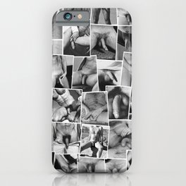 Naked man collage iPhone Case
