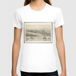 Vintage Pictorial Map of Sea Isle City NJ (1885) T-shirt
