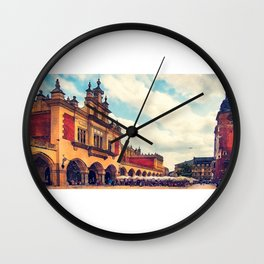 Cracow Main Square Old Town Wall Clock