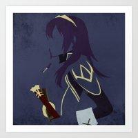 fire emblem awakening Art Prints featuring Lucina Fire Emblem Awakening  by MKwon