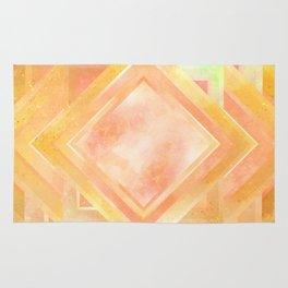 Mosaic Tile // Yellow Starburst Rug
