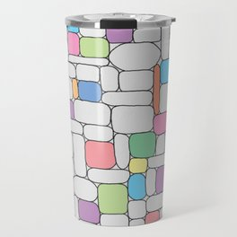 Pastel Stone Wall Travel Mug