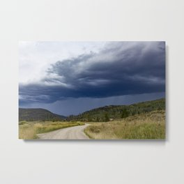 Thunderstorm Rolling over the Colorado Rocky Mountains Metal Print
