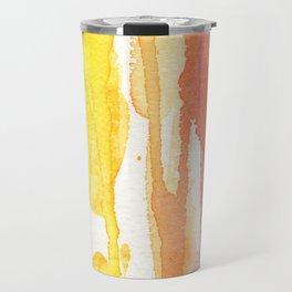 Rainbow Watercolor Texture Pattern Abstract Travel Mug