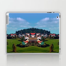 Rural hillside village panorama | landscape photography Laptop & iPad Skin