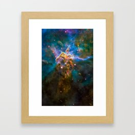 Mystic Mountain Nebula, Galaxy Background, Universe Large Print, Space Wall Art Decor, Deep Space Framed Art Print