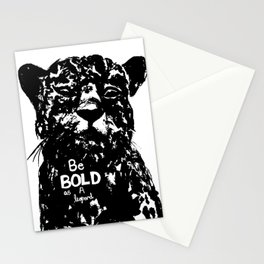 Bold As A Leopard Stationery Cards