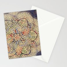 Gold Morocco Lace Mandala Stationery Cards