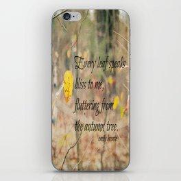 Leaf Emily Bronte iPhone Skin