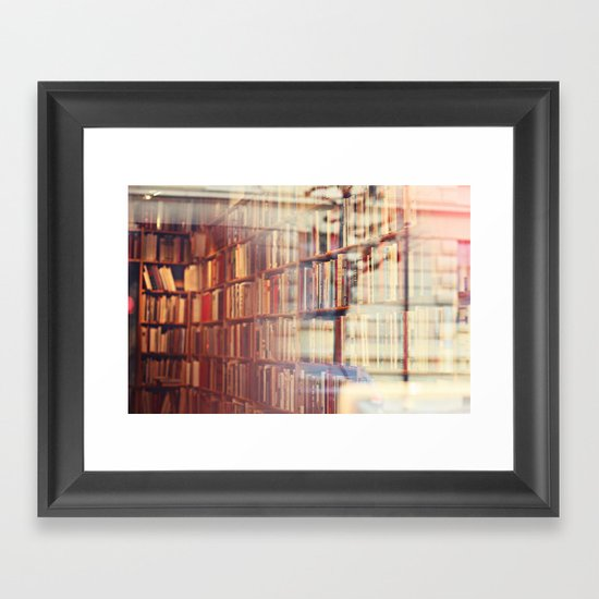 Endless amount of stories Framed Art Print