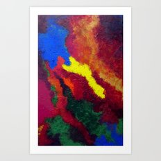Autumn Abstract Painting Art Print
