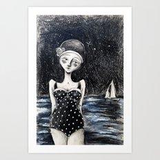 Midnight Tides Art Print