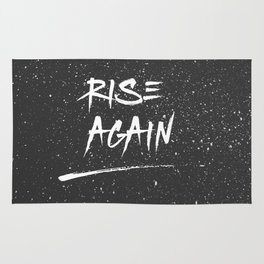 Inspirational Poster - Rise Again (Black & White) Rug