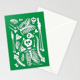 Skeletal Love (Green) Stationery Cards