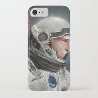 interstellar iPhone & iPod Cases featuring Interstellar by San Fernandez