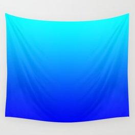 Aqua Blue Bright Ombre Wall Tapestry