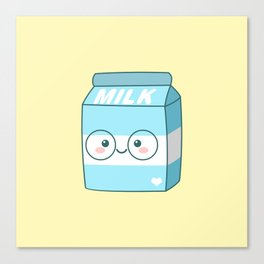 Kawaii Milk Canvas Print
