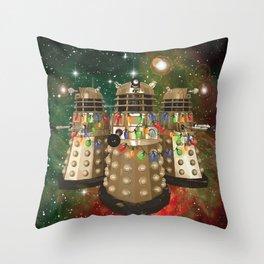 Holiday Daleks Throw Pillow