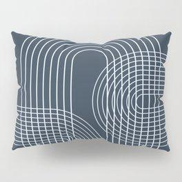 Geometric Lines in Midnight Blue 2 Pillow Sham