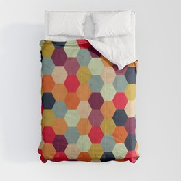 Colorful Beehive Pattern Comforters