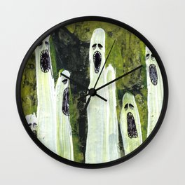 Ghosts Wall Clock