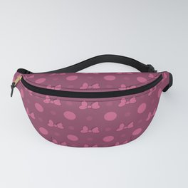 Pink Mini Bow & Polka Dot Pattern Fanny Pack
