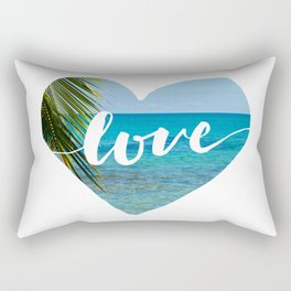 Gotta Love That View - Tropical Paradise Rectangular Pillow