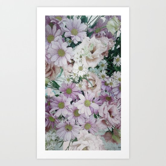 Bouquet pastel lilacs and pinks Art Print