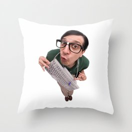 Computer Nerd Throw Pillow