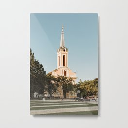 Roman-catholic church in Becej, Serbia Metal Print