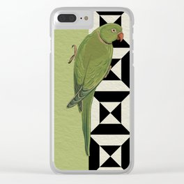 Parrot Checkers Clear iPhone Case