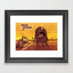 One Please Framed Art Print