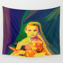 Wolf Boy Wall Tapestry