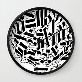CALLIGRAPHY N°2 ZV Wall Clock