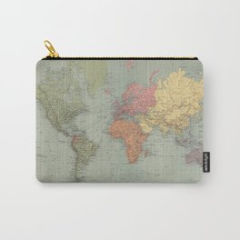 Vintage Map of The World (1889) Carry-All Pouch