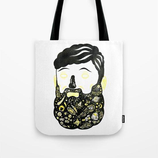Space Beard Guy Tote Bag