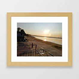 Summer Sunrise on Lake Champlain Framed Art Print