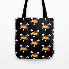 Lucha Libre Pug (Black BG) Tote Bag