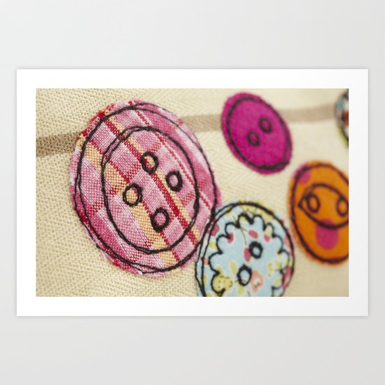Embroidered Buttons Art Print