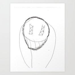 Scary Guy Art Print