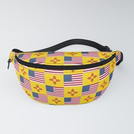 Mix of flag : USA and new mexico Fanny Pack