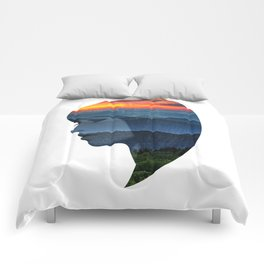Sunsets on the Mountains Comforters