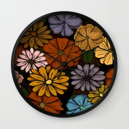 Abstract #418 Flower Power #6 Wall Clock
