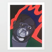 big poppa Art Prints featuring Big Poppa by Gustavo Barroso